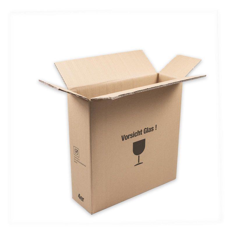 Versandkarton für 4er Geschenkverpackung, braun 395x116x400 mm