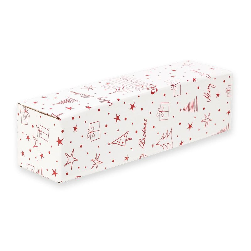 Versandkarton für 1er Geschenkverpackung, Merry Christmas - 410x95x110 mm