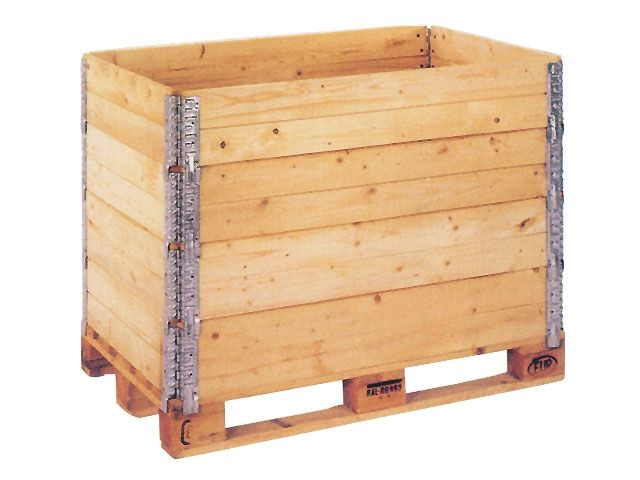 Holzaufsatzrahmen für halbe Paletten - 800x600x200mm