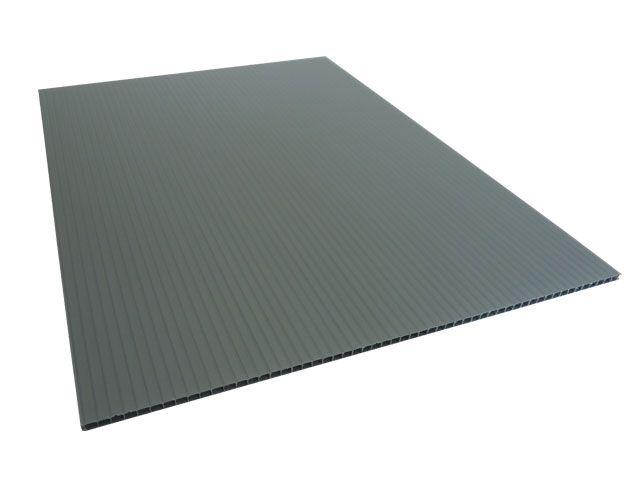 pp hohlkammerplatte grau 3250x2420 mm 1050 g m 3 5 mm verpackungsmaterial kartons. Black Bedroom Furniture Sets. Home Design Ideas