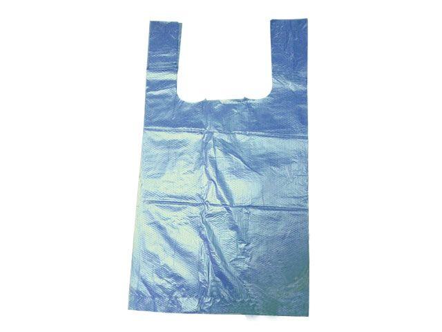 HDPE-Hemdchentragetaschen, blau 16+12x30 cm - geblockt zu 100 Stück