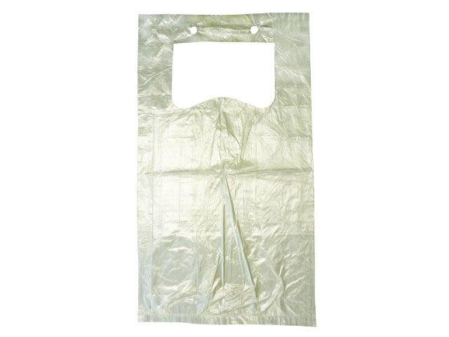 Knotenbeutel aus HDPE, transparent - 5 Kg - geblockt