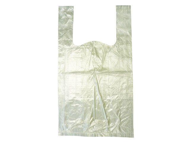 Knotenbeutel aus HDPE, transparent - TYP 10 - 3 Kg - gerollt Pappkern
