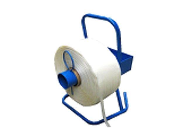 Abrollgerät für Polyester Kraftband mit 76 mm Kern