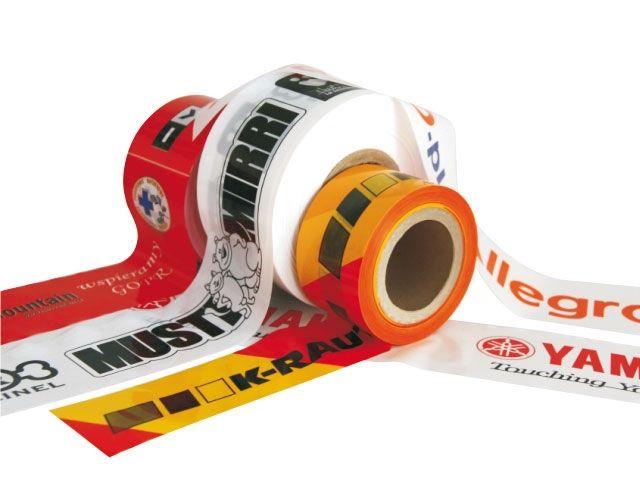 Absperrbänder aus HDPE individuell 2-farbig bedrucken - 75mmx250m - 35 my