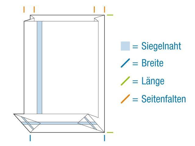 OPP-Blockbodenbeutel, hochtransparent 80+50x250 mm 40 µ