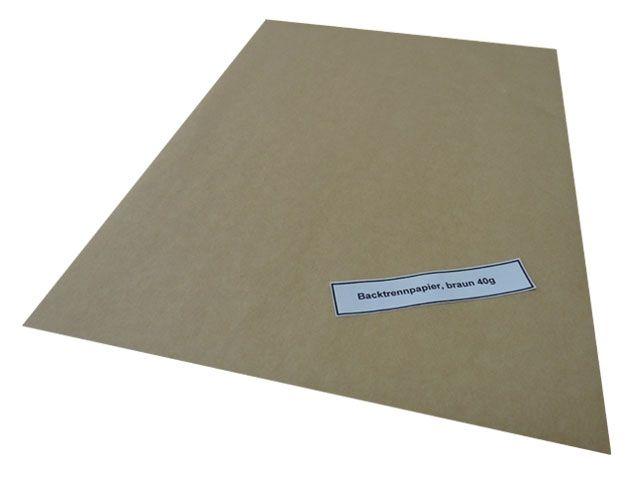 Backtrennpapier, braun - 40x60 cm - 40 g/m²