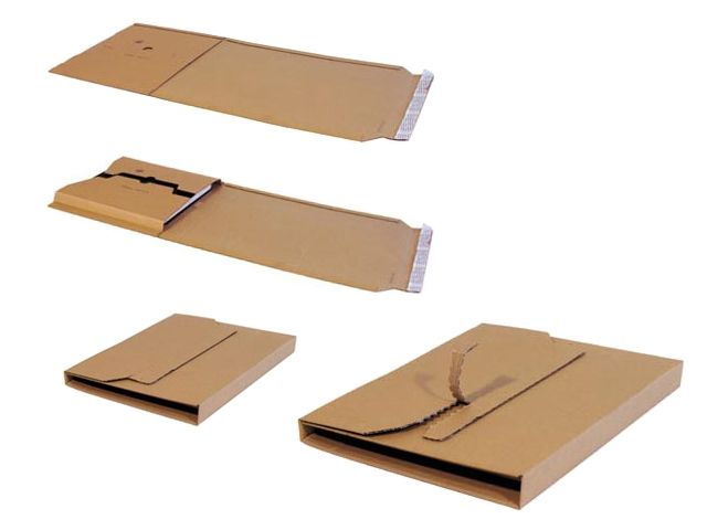 Multiwell 367 Buchverpackungen, braun - 370x290x20-75 mm - B-Welle