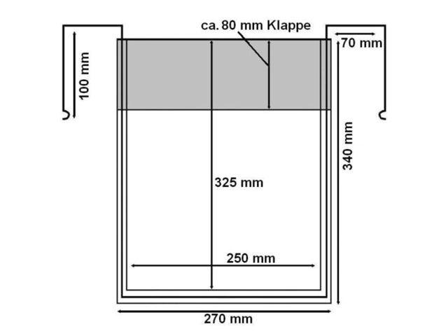 Drahtbügeltaschen - A4 - mit Klappe - Hochformat - für Gitterboxen
