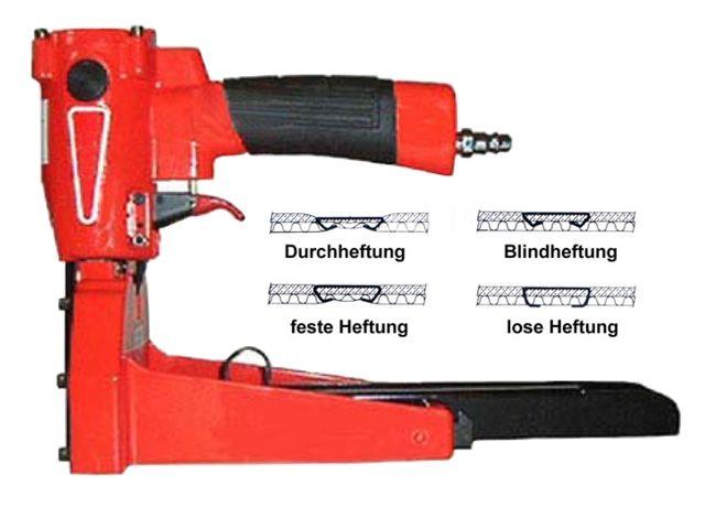 Kartondeckelhefter pneumatisch 15 - 18 mm