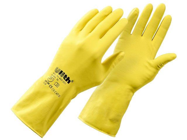 Ulith-Latex-Haushaltshandschuhe / Universalhandschuhe - gelb - Größe L