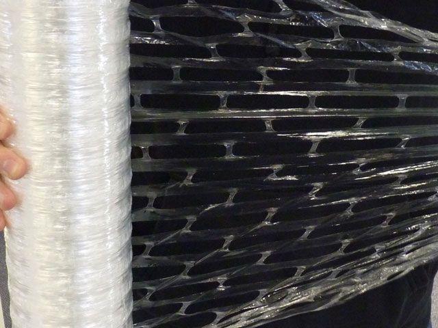 gelochte Handstretchfolie 9my, 450mmx600m - transparent