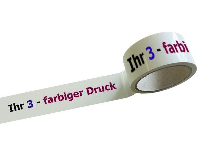 bedrucktes Klebeband aus PVC mit 3-farbigem Positiv-Druck - 55my - MONTA 250 - 220 - 281