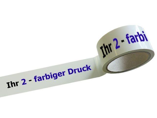 bedrucktes Klebeband aus PVC mit 2-farbigem Positiv-Druck - 65my - MONTA 124