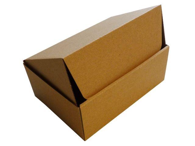 Versandboxen, braun 190x131x76 mm aus 1-welliger Wellpappe