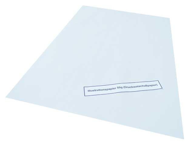 Illustrationspapier, weiß - 50 x75 cm - 50 g/m² - 5 Kg per Paket