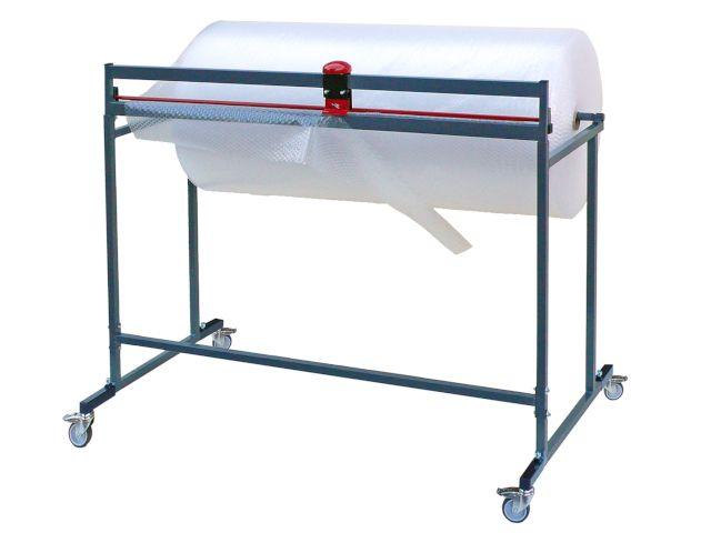 Schneidständer bis 60 cm Rollenbreite für Packpapier oder Luftpolsterfolie - fahrbar