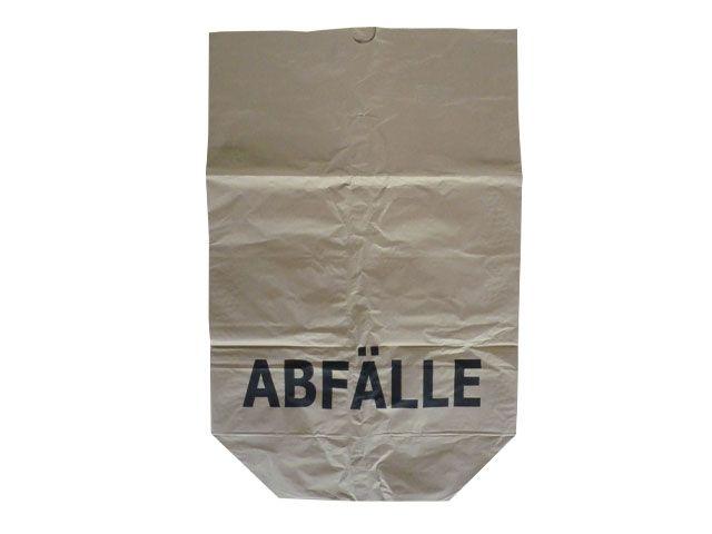 Papier-Abfallsäcke 2-lagig 2x70g/m² - Druck Abfälle 70 L - 550x850+200 mm