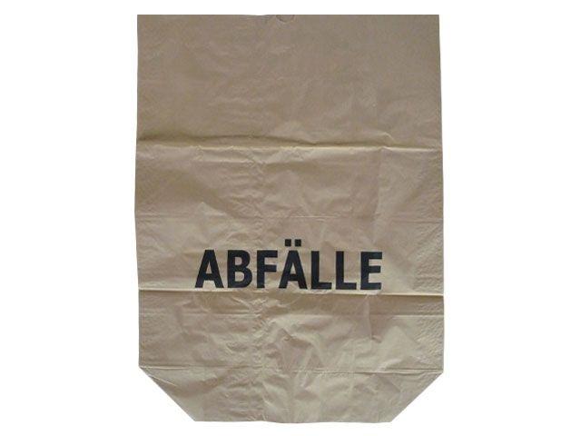 Papier-Abfallsäcke 2-lagig 2x70g/m² - Druck Abfälle 120 L - 700x950+220 mm