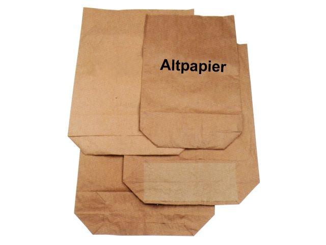 Papier-Abfallsäcke 2-lagig 2x70g/m² - Druck Altpapier 120 L - 700x950+220 mm - Funny AG-796