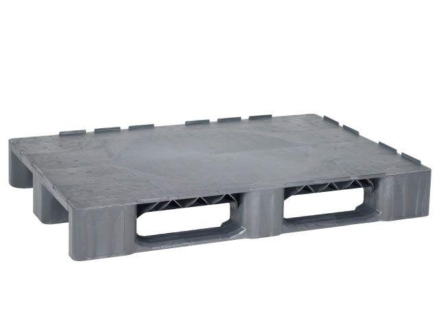 Kunststoffpaletten - 800x1200x155 mm - bis 7500 Kg belastbar - hochregalfähig - mit Rand