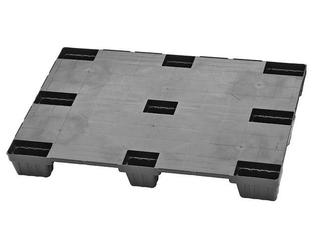 Kunststoffpaletten - 800x1200x140 mm - bis 2000 Kg belastbar - mit Rand