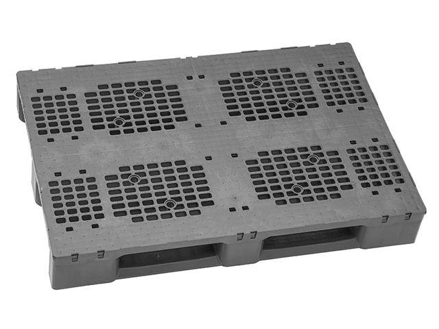 Kunststoffpaletten - 800x1200x160 mm - bis 7500 Kg belastbar - mit Rand