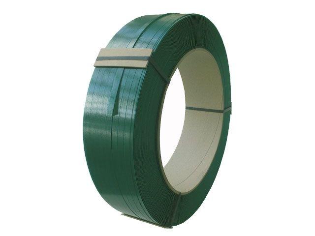 PET-Band 910, grün - geprägte Oberfläche, 12,5x0,70mmx2.000m - Reißkraft: 355 KG - Kern: 406 mm - ohne Umkarton
