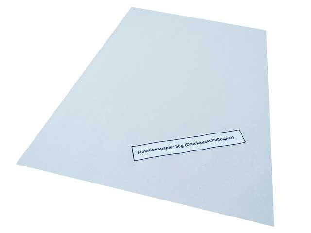 Rotationspapier, weiß - 50 x75 cm - 50 g/m² - 5 Kg per Paket