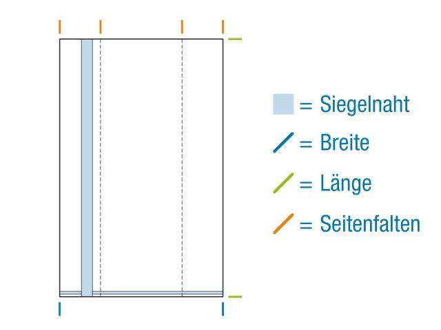 OPP-Seitenfaltenbeutel, hochtransparent 80+40x240 mm