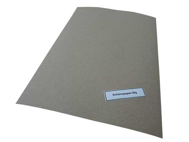 Schrenzpapier, grau - 75x100 cm - 80 g/m²