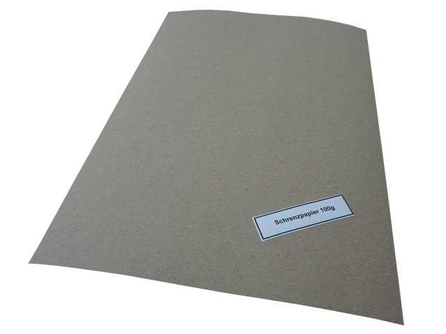 Schrenzpapier, grau - 75x100 cm - 100 g/m²