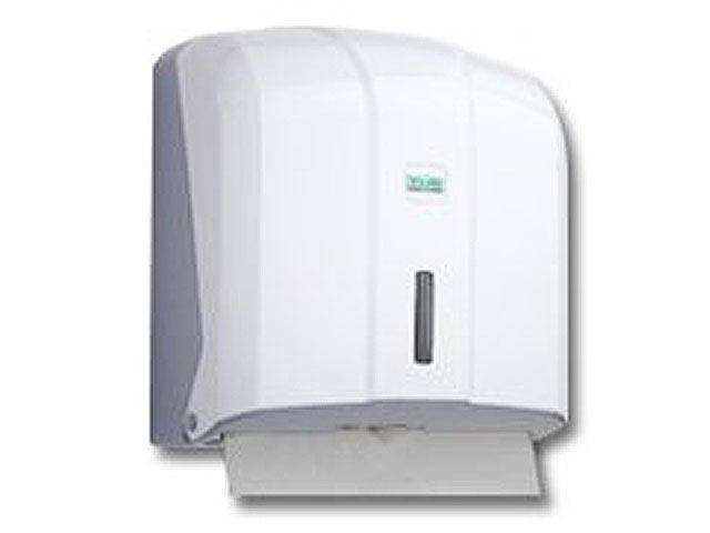 Spender für Papierhandtücher, weiß - 27x27x13 cm - für ZZ/C Falz Tücher