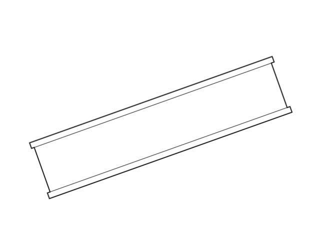 Clipbandverschlüsse, weiß - 80 mm
