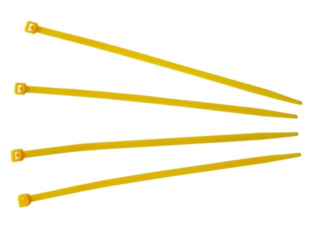 Kabelbinder, gelb - 140x3,6 mm