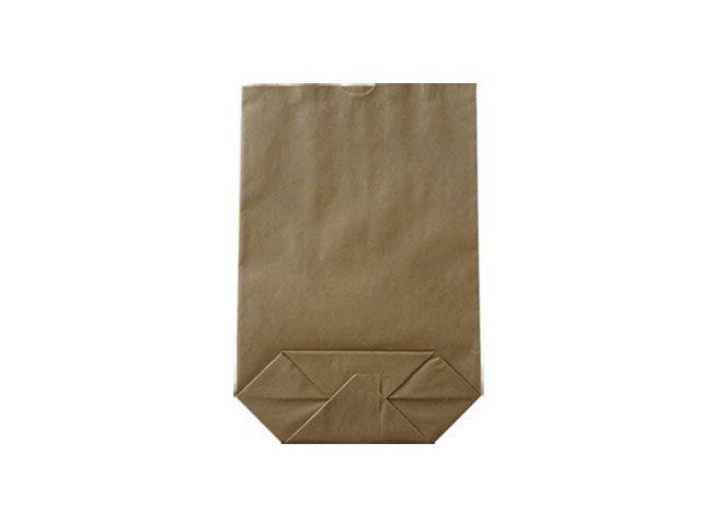 Kreuzbodenbeutel aus Kraftpapier, braun - 14x22 cm - 0,5 Kg
