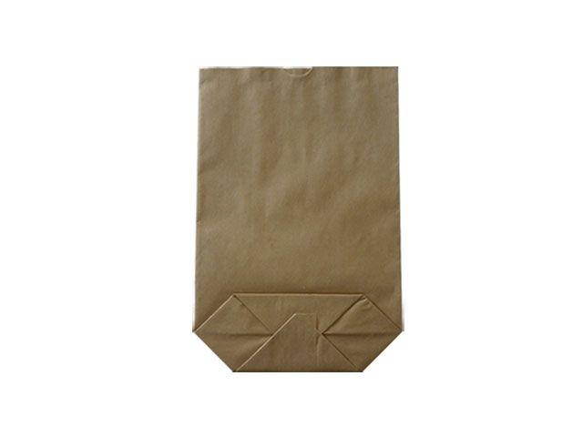 Kreuzbodenbeutel aus Kraftpapier, braun - 16,5x26 cm - 1,0 Kg