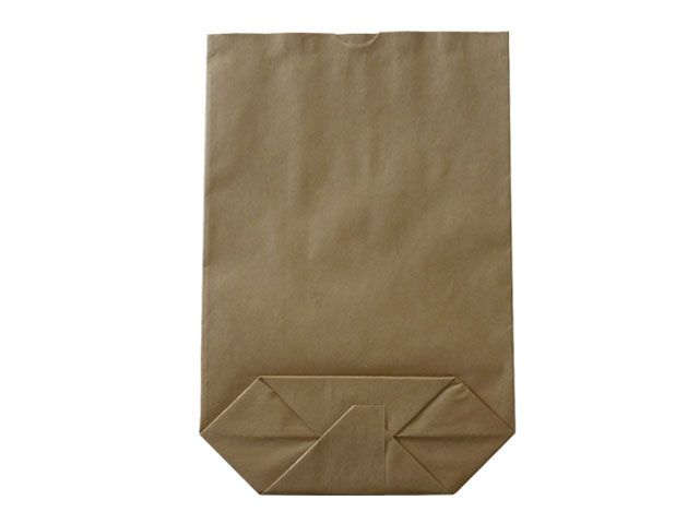 Kreuzbodenbeutel aus Kraftpapier, braun - 36x63 cm - 15,0 Kg
