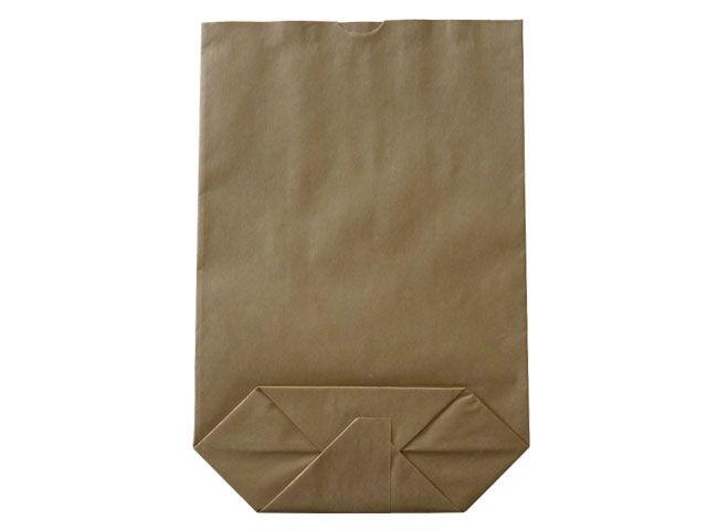 Kreuzbodenbeutel aus Kraftpapier, braun - 42x63 cm - 20,0 Kg