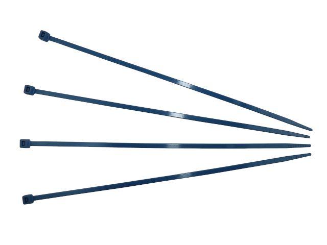 Kabelbinder, blau - 290x4,8 mm dedektierbar