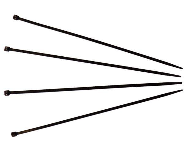 Kabelbinder, schwarz - 200x3,6 mm