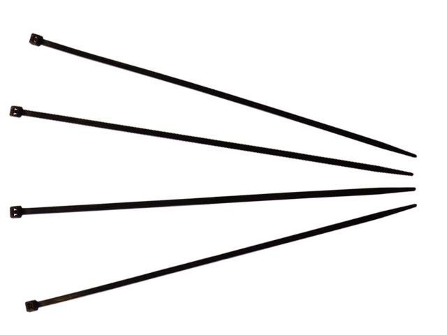 Kabelbinder, schwarz - 200x4,8 mm