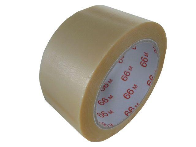 PVC-Klebeband, transparent - 50mmx66m - 53my - Pack-Film 865 - geprägte Oberfläche