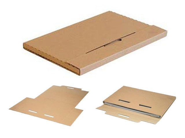 Kalenderverpackungen aus Wellpappe, braun - DIN A2 - 620x420x10mm