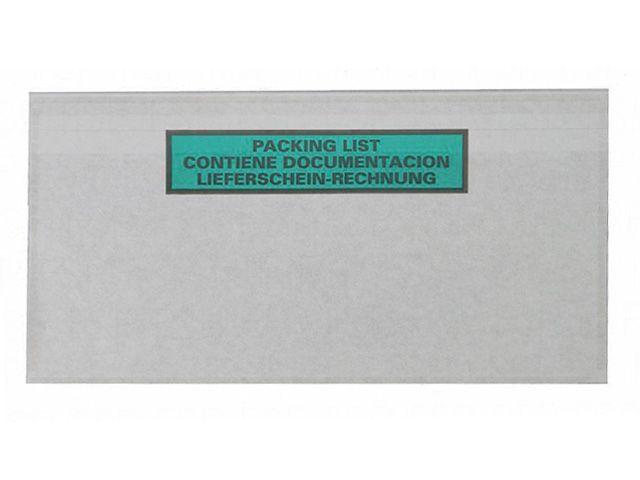 Lieferscheintaschen aus Papier - DIN Lang - Lieferschein / Rechnung - 240x130 mm