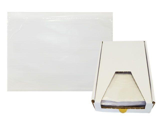 Lieferscheintaschen, transparent - DIN C5 - Spendekarton 250 Stück
