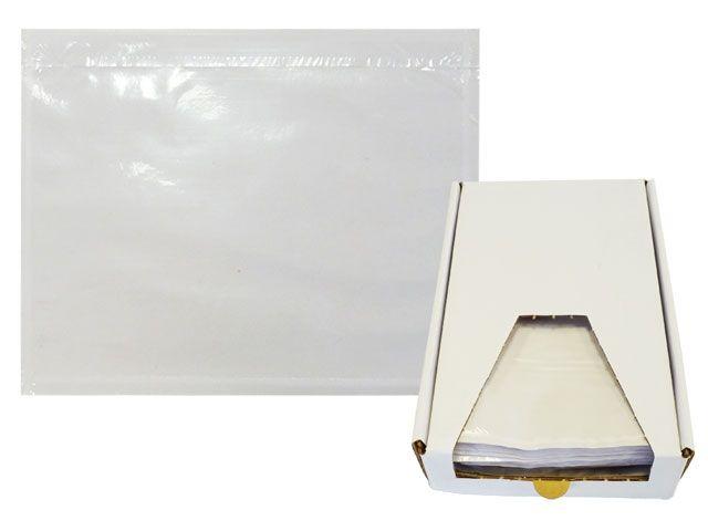 Lieferscheintaschen, transparent - DIN C6 - Spendekarton 250 Stück