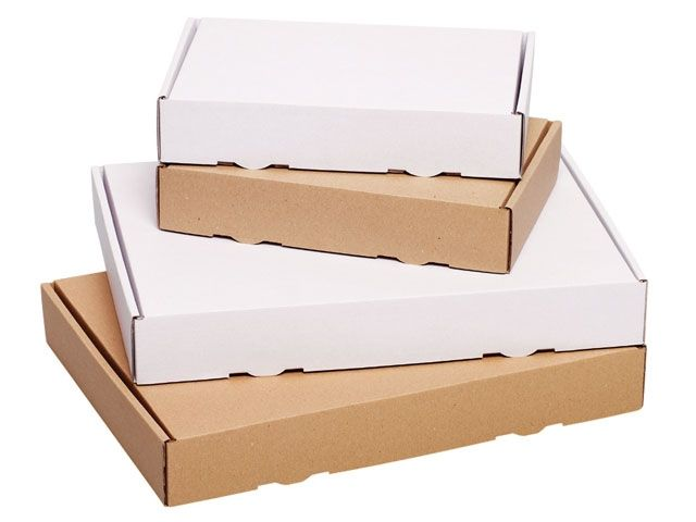Maxibriefkarton, weiß - Paketklasse S - 230x155x45 mm - 1.20 E-Welle