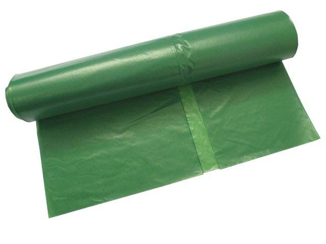 Müllsäcke - Müllbeutel aus LDPE, grün - 120 L - 700x1100 mm, Typ 60 premium - 38my