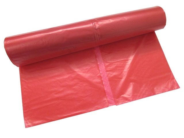 Müllsäcke - Müllbeutel aus LDPE, rot - 120 L - 700x1100 mm, Typ 80 extra - 61my